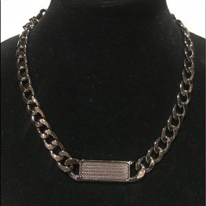 Hematite chunky chain necklace